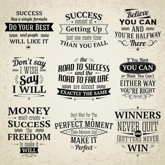 Motivational Quotes Collectio Vector