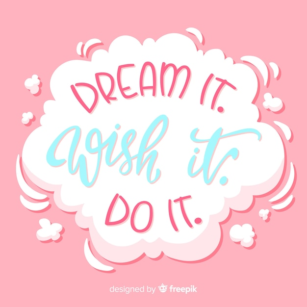 Motivational quotes on white cloud Free Vector
