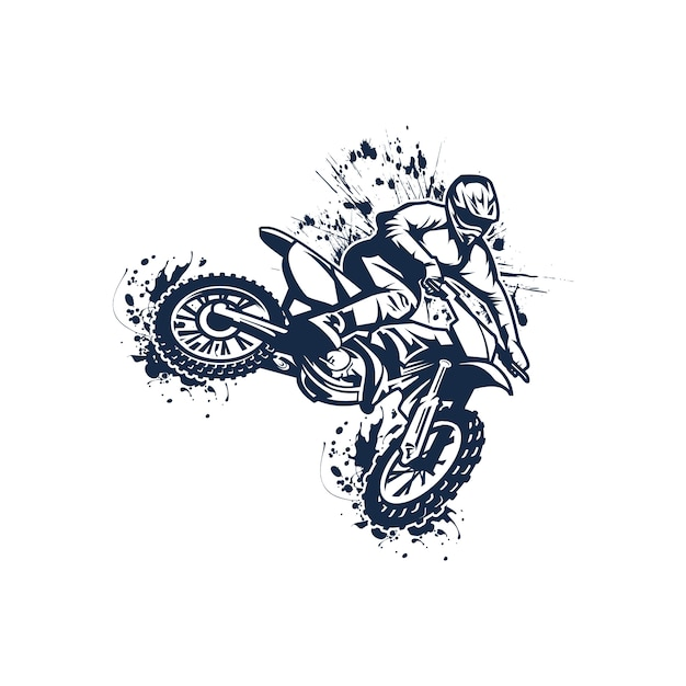 Moto cross Premium Vector