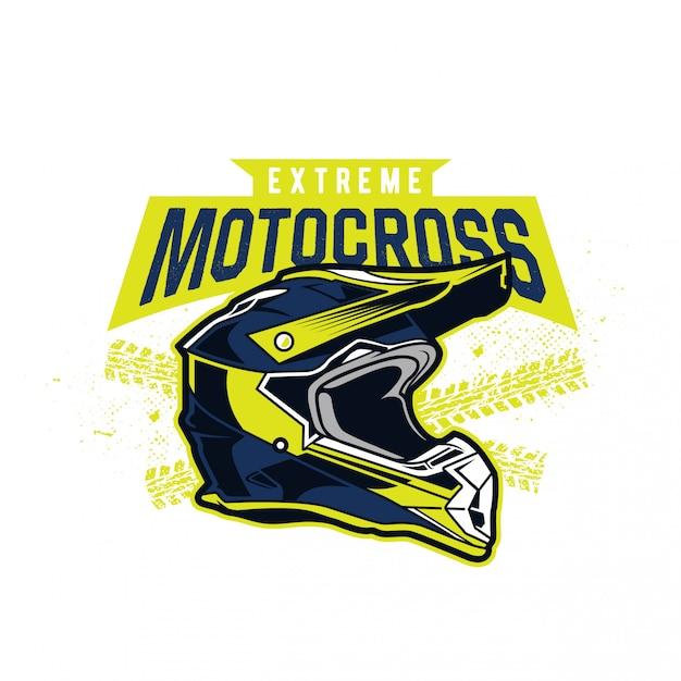Motocross helmet Premium Vector