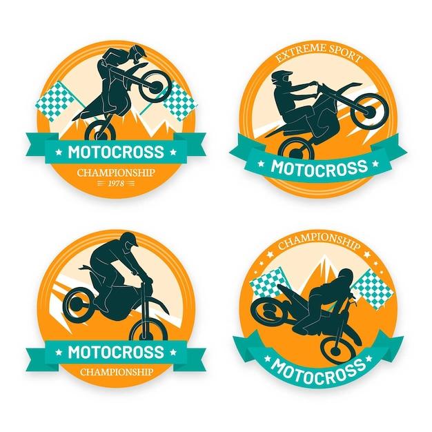 Motocross logo collection template Free Vector