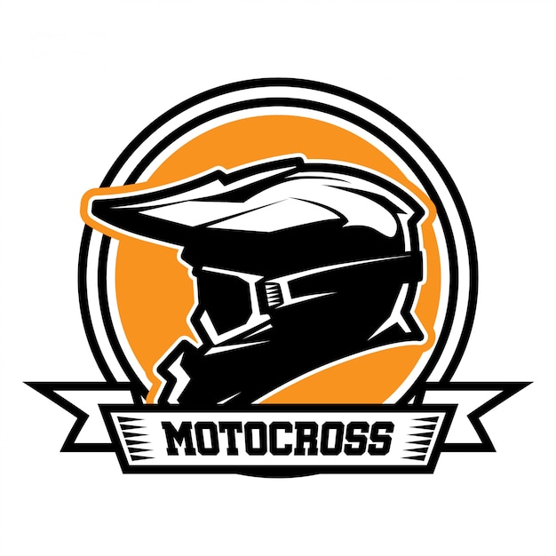 Motocross logo Premium Vector