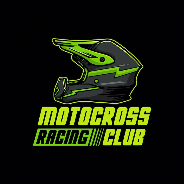 Motocross racing club logo Premium Vector