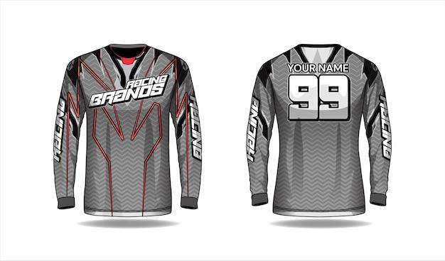 Motocross shirt template, racing jersey design Premium Vector