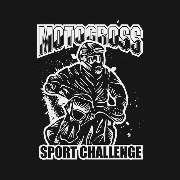 Motocross sport challenge vector illustration Premium Vector
