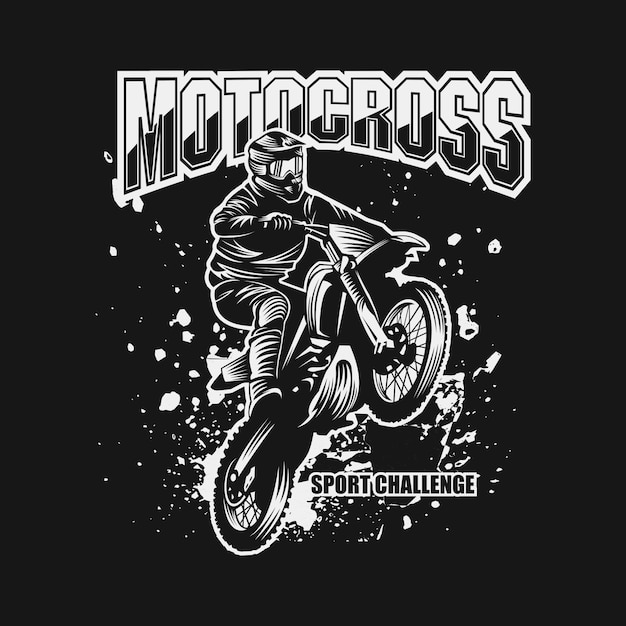 Motocross sport challenge vector illustration Premium Vector