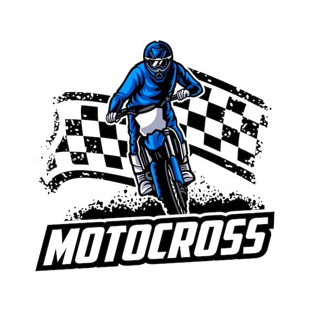 Motocross vector logo , motocross freestyle Premium Vector