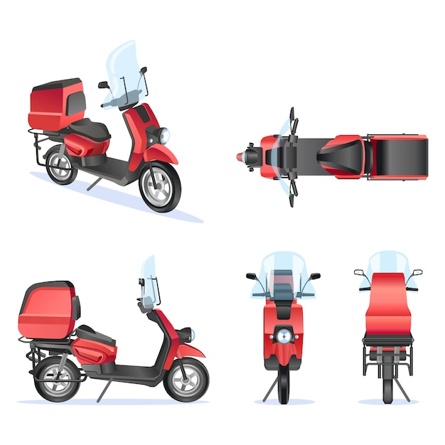 premium vector motorbike 3d vector template for moped motorbike branding and advertising isolated motorbike set on white background view from side front back top https www freepik com profile preagreement getstarted 6385121