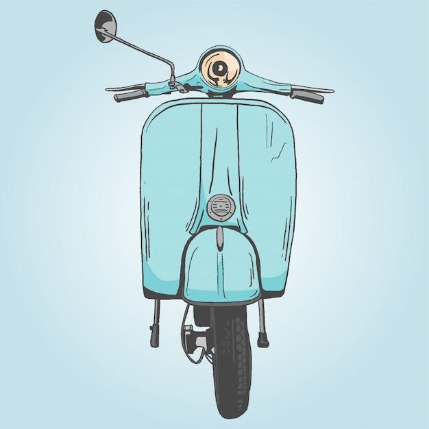 Motorbike Premium Vector