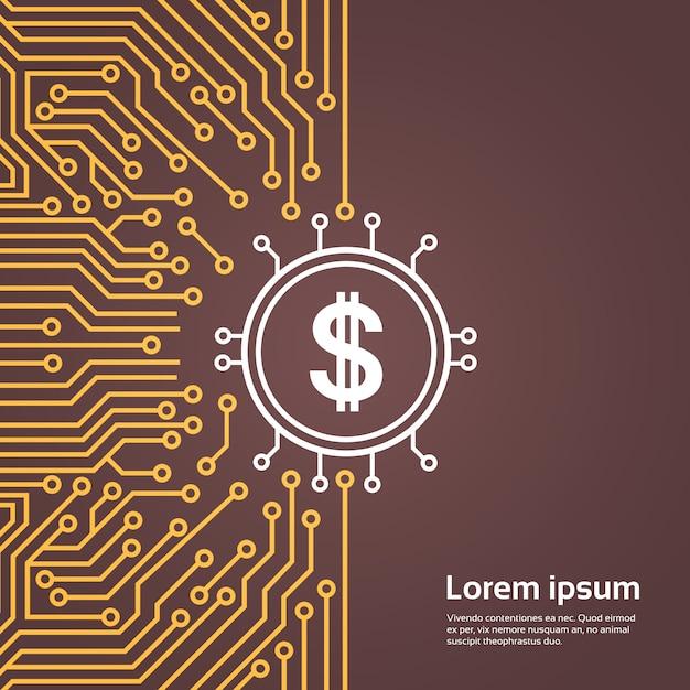 コンピューターチップmotorboard backgroungネットワークデータセンターシステムコンセプトバナー Premiumベクター