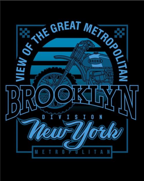 Motorcycle art design,vector graphic illustration Premium Vector