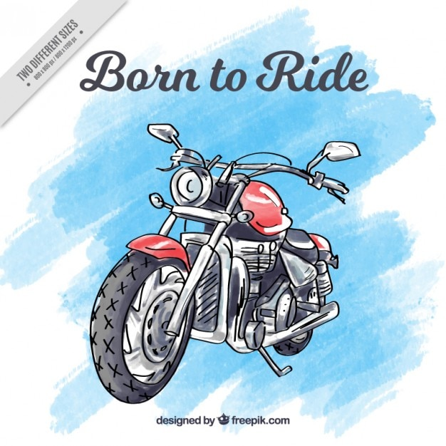 Motorcycle background hand painted Free Vector