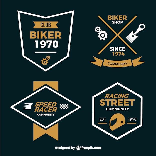 Motorcycle badges minimal style