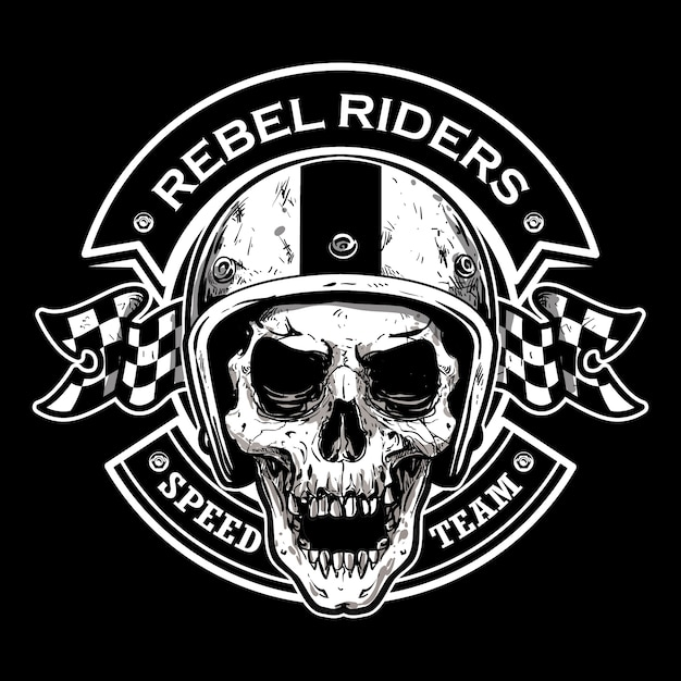 Motorcycle club logo Premium Vector