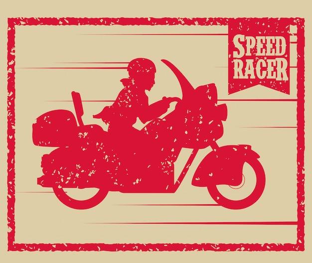Motorcycle design. Premium Vector