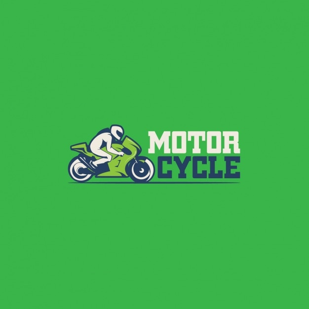 Motorcycle logo on a green background
