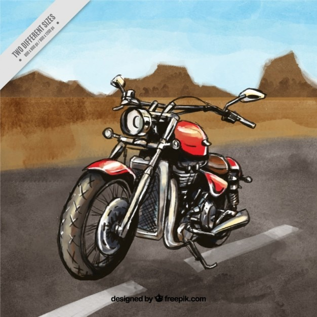 motorcycle background download  Motorcycle on the road background Vector | Free Download
