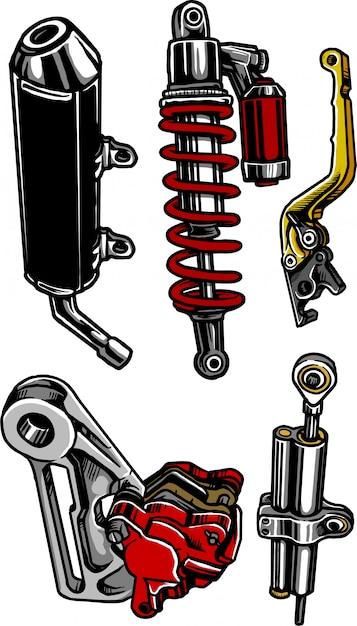 Motorcycle Parts Vector Premium Download