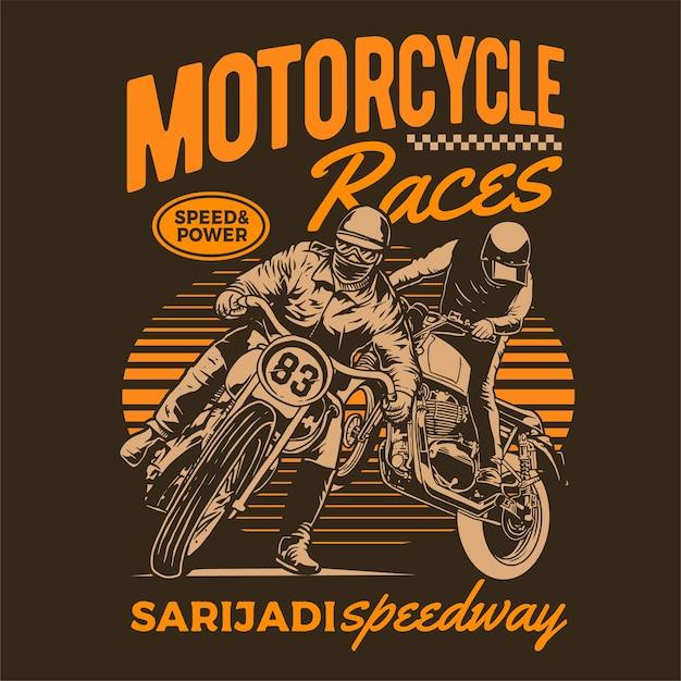 Motorcycle racing poster Premium Vector