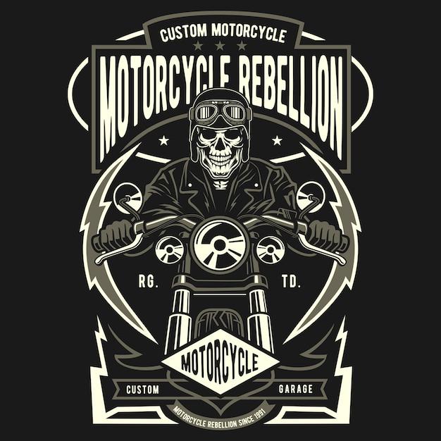 Motorcycle rebellion Premium Vector