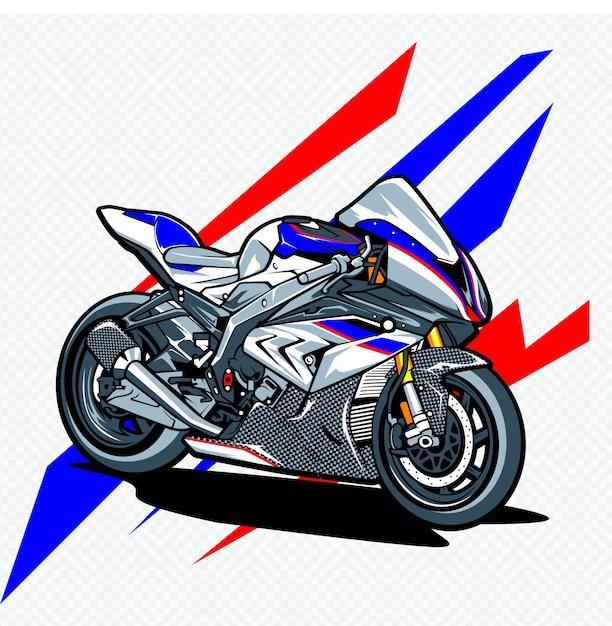 Motorcycle Premium Vector