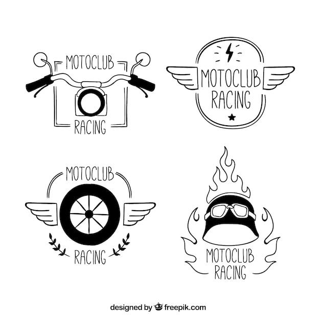 Motorcycles club, hand drawn logos