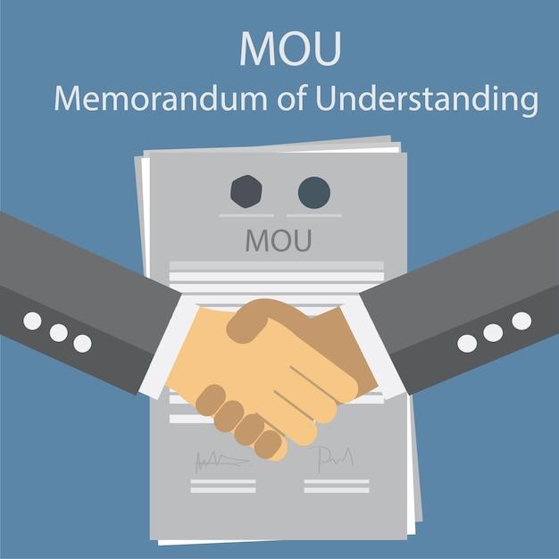 Меморандум о взаимопонимании мов. Premium векторы