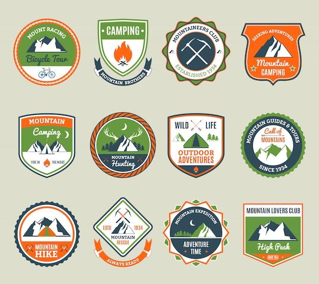 Mountain Adventure Emblems