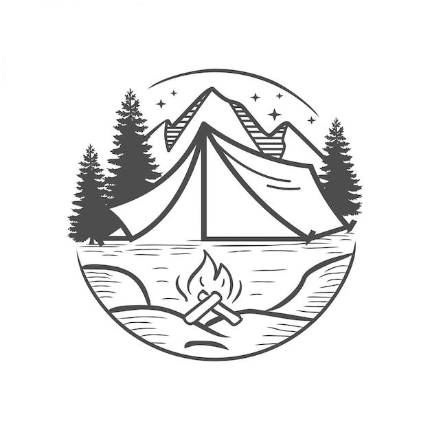 Mountain adventure Premium Vector