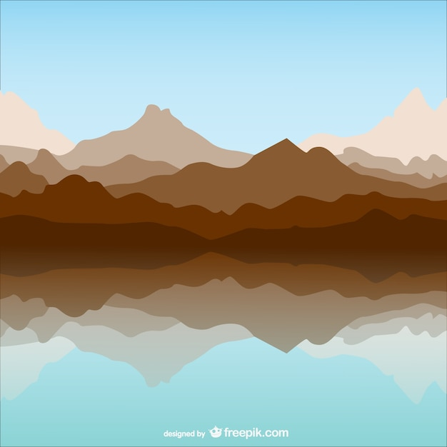 mountain and lake template landscape vector free download