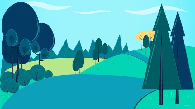 Mountain background vector illustration Premium Vector