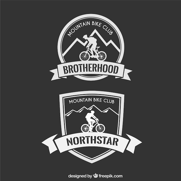 Mountain bike badge