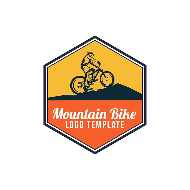 Логотип горного велосипеда Premium векторы