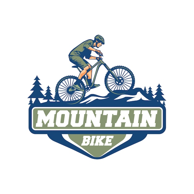Mountain bike vector Premium Vector