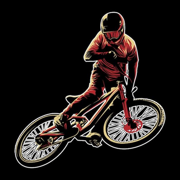 Mountain bike vector Premium Vector