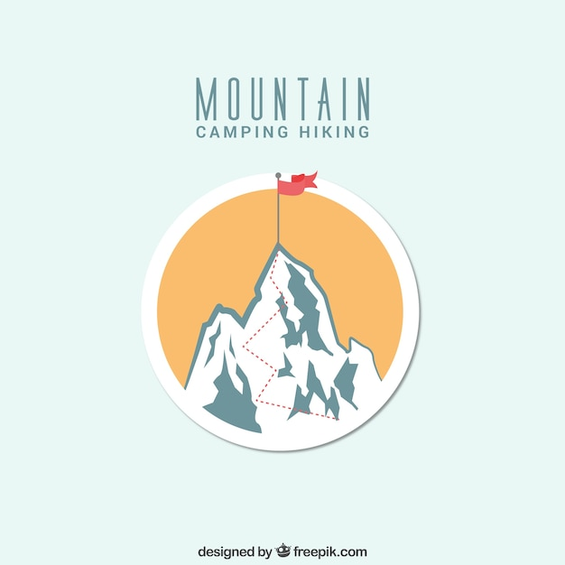 Mountain camping badge