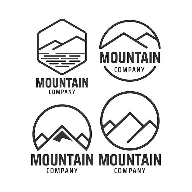 Mountain graphic design template Premium Vector