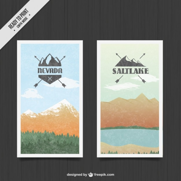 Mountain landscape banners