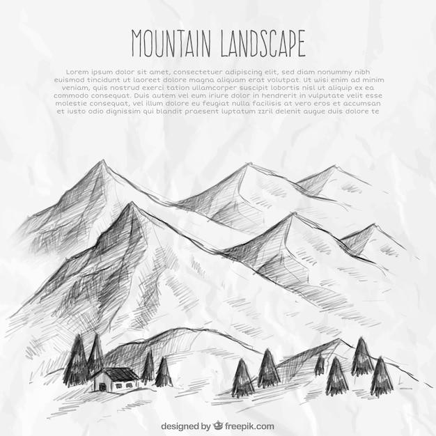 Mountain landscape sketch background