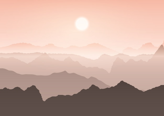 Mountain landscape Free Vector