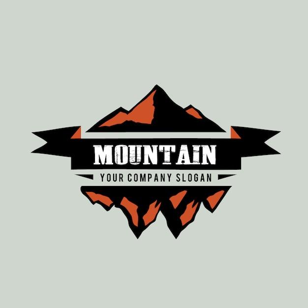 Mountain logo background Free Vector