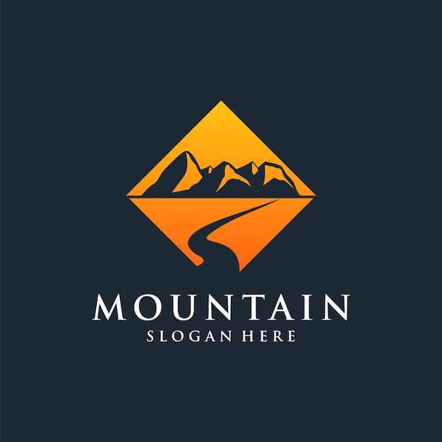 Шаблон дизайна логотипа горы Premium векторы