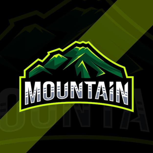 Дизайн шаблона логотипа горы Premium векторы