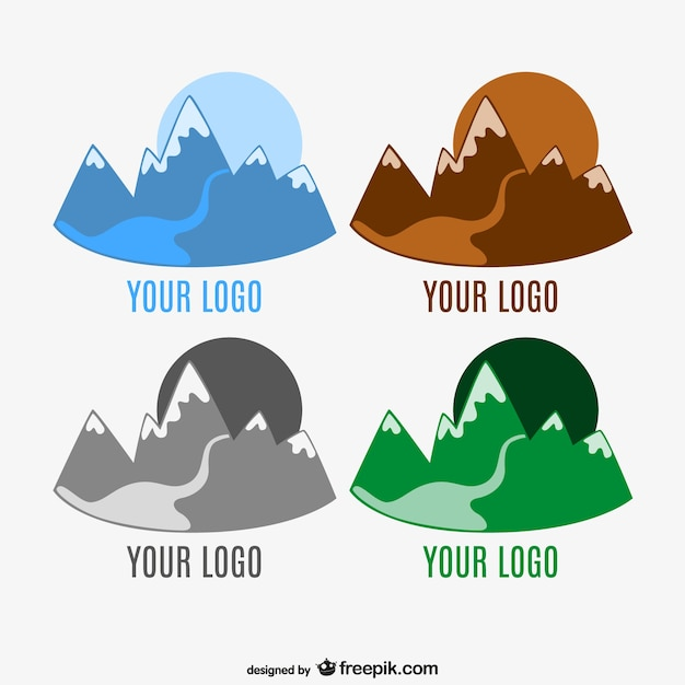 mountain logo template vector free download