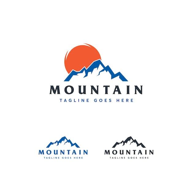 Mountain logo template Premium Vector
