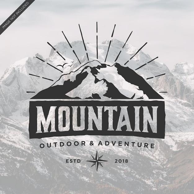 Mountain logo vintage Premium Vector