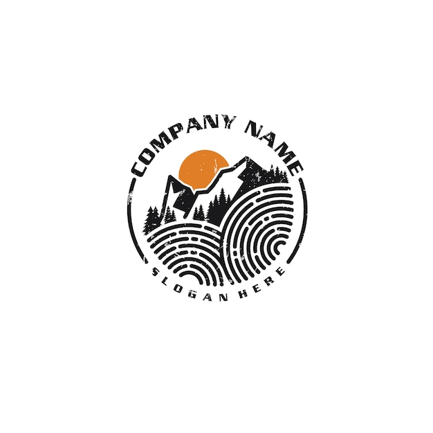 Mountain logotype Premium Vector