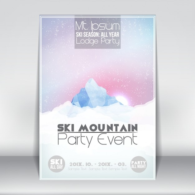 Mountain Party Event Template Free Vector  Event Templates Free