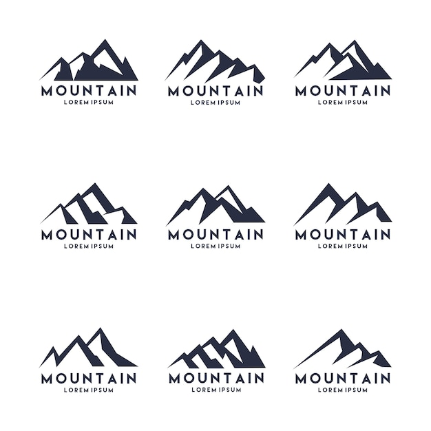 Дизайн логотипа mountain shape Premium векторы