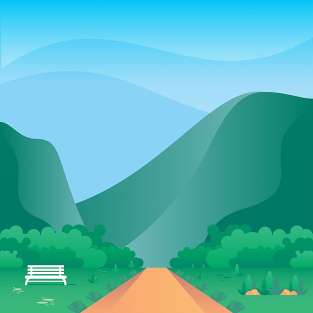 Mountain vector illustration Premium Vector